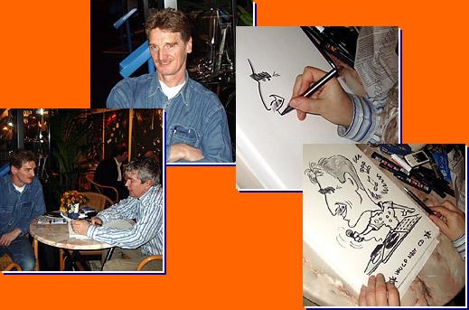 Bert Tekent Cartoons Op A3 Formaat Ook Tijdens Optredens